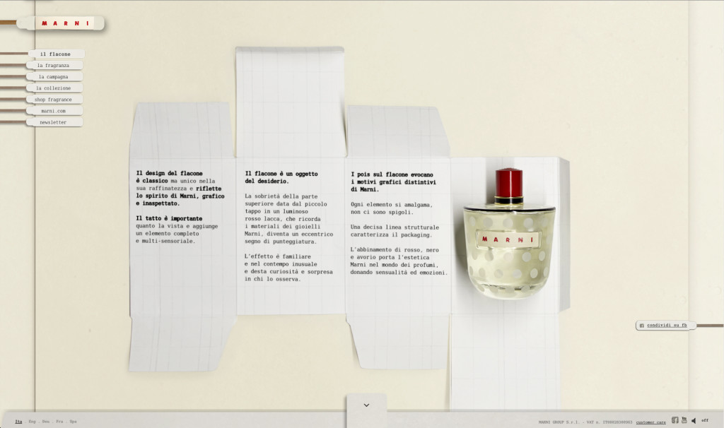 MARNI FRAGRANCE BOTTLE
