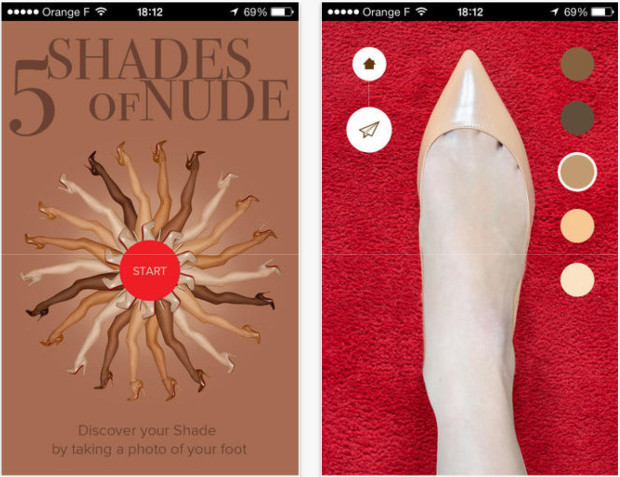 App di capsule collection The Nudes di Christian Louboutin