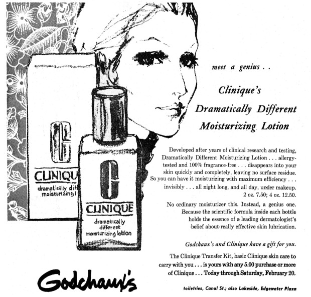 Dramatically Different di Clinique campagna adv vintage