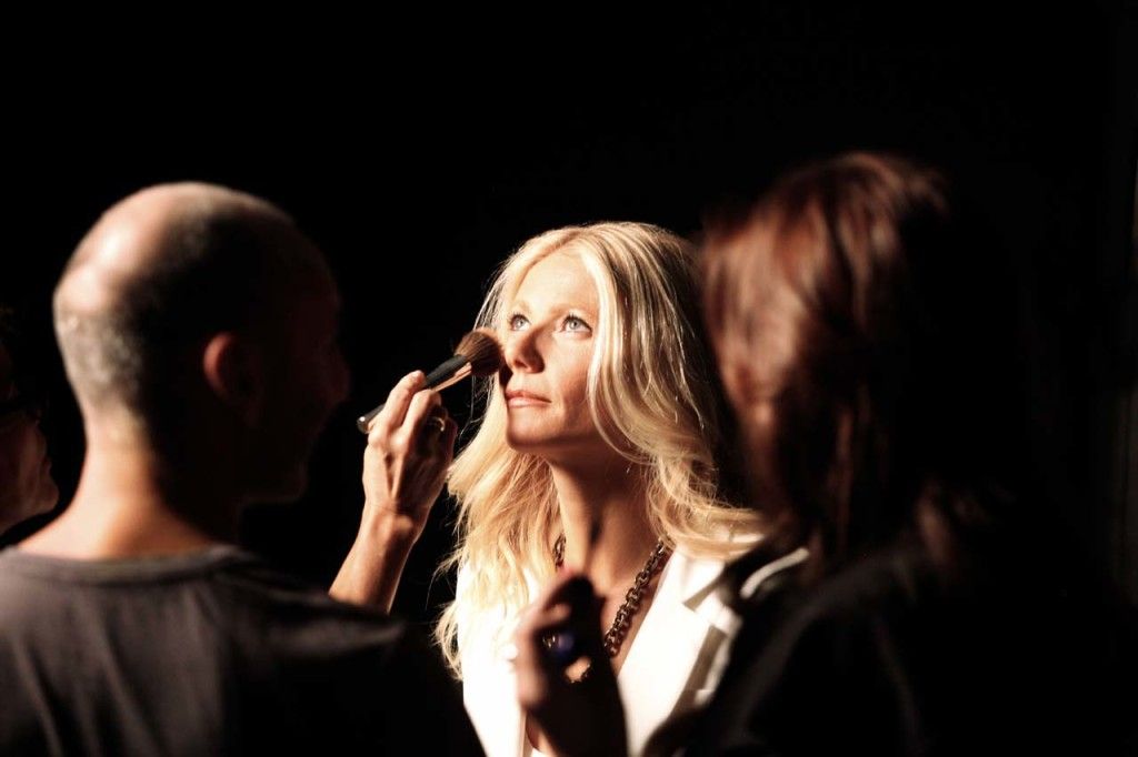 Gwyneth Paltrow backstage
