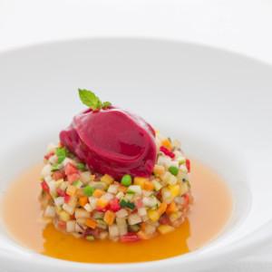 Novessentia Restaurant Zuppetta Frutta e Verdura