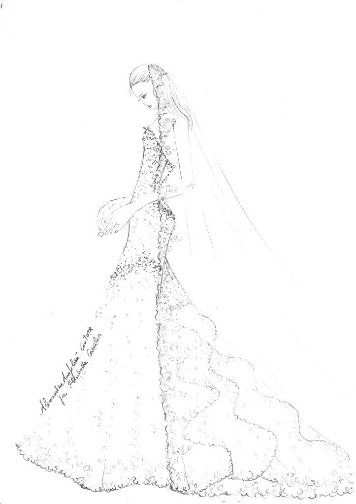 abito nozze elisabetta canalis