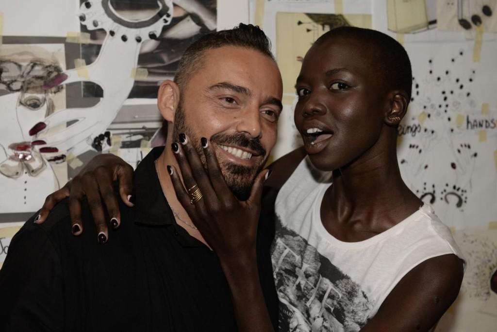 Reverse French manicure per la sfilata di Antonio Marras -nella foto Antonio Sacripante