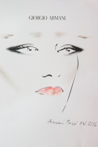 Disegno make up armani